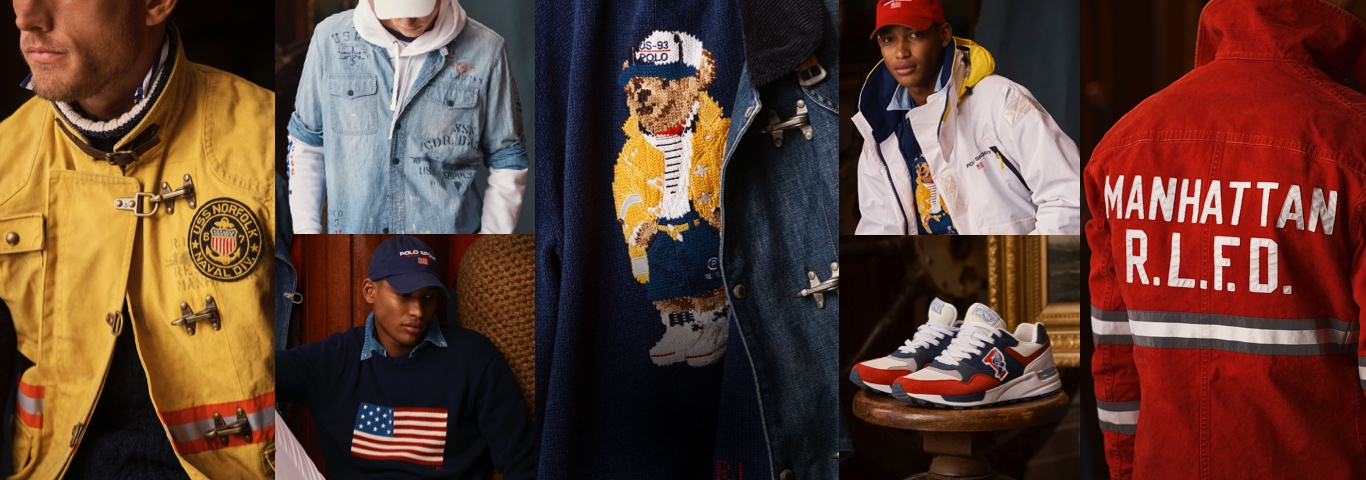 Collage of apparel from the Ocean Challenge collection